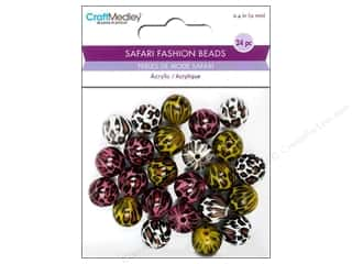 Multicraft Beads Safari Fashion Leopard 1 24pc