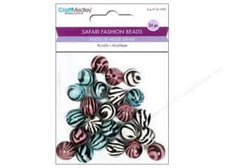 Multicraft Beads Safari Fashion Zebra 1 24pc