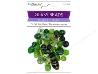 Toys 2 oz: Multicraft Beads Glass Color Shade Green 1.2oz