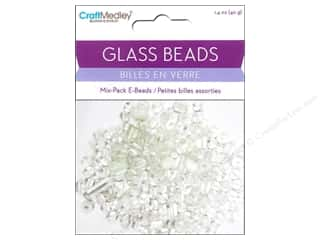 Multicraft Beads Glass E Bead White 1.4oz