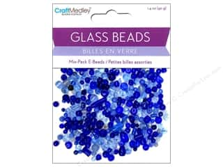 Multicraft Beads Glass E Bead Blue 1.4oz