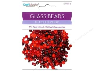 Beads Glass Beads: Multicraft Beads Glass E Bead Red 1.4oz
