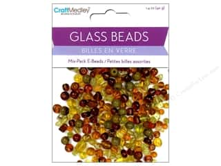 Beads Glass Beads: Multicraft Beads Glass E Bead Brown 1.4oz