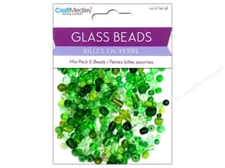Beads Glass Beads: Multicraft Beads Glass E Bead Green 1.4oz