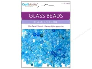 Beads Glass Beads: Multicraft Beads Glass E Bead Aqua 1.4oz
