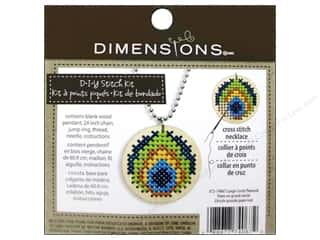 Stitchery, Embroidery, Cross Stitch & Needlepoint $6 - $10: Dimensions Cross Stitch Kit Circle Peacock Natural