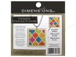 Stitchery, Embroidery, Cross Stitch & Needlepoint inches: Dimensions Cross Stitch Kit Square Pattern Natural