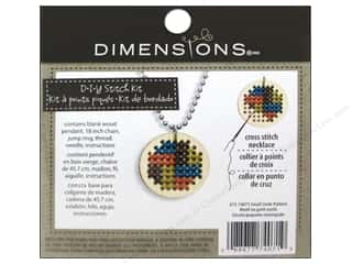 Stitchery, Embroidery, Cross Stitch & Needlepoint Crafting Kits: Dimensions Cross Stitch Kit Circle Pattern Natural