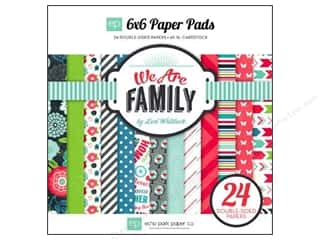 "Bo Bunny Paper Pads 6""x 6"": Echo Park Paper Pad 6 x 6 in. We Are Family"