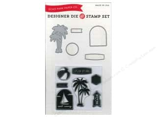 1 Pair: Echo Park Designer Die & Stamp Set Walking On Sunshine Collection Splish Splash