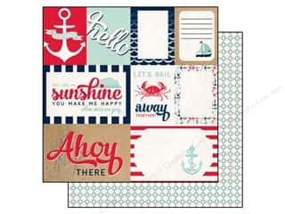 Carta Bella Beach & Nautical: Carta Bella 12 x 12 in. Paper Ahoy There Let's Sail (25 pieces)