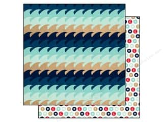 Carta Bella 12 x 12 in. Paper Ahoy There Waves (25 piece)