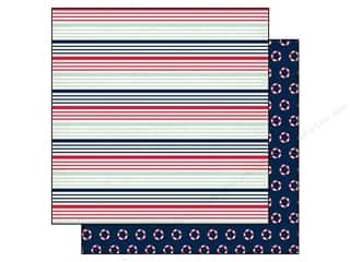 Carta Bella 12 x 12 in. Paper Ahoy Nautical Stripe (25 piece)