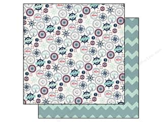 Carta Bella 12 x 12 in. Paper Ahoy There My Anchor (25 piece)