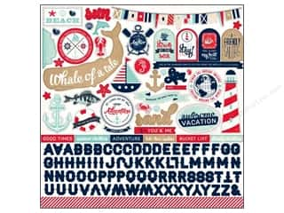 Carta Bella Theme Stickers / Collection Stickers: Carta Bella Sticker 12 x 12 in. Ahoy There Element (15 sets)