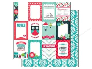 2013 Crafties - Best Adhesive: Echo Park Paper 12x12 We Are Family 3x4 Jrnl Cards (25 piece)