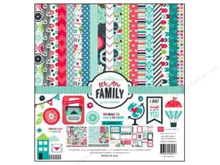 Echo Park Paper Company Alphabet Stickers: Echo Park 12 x 12 in. We Are Family Collection Kit