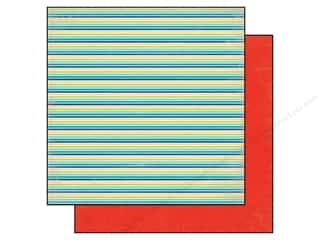 Echo Park Paper 12x12 Sunshine Beach Stripe (25 piece)
