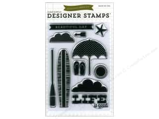 Rubber Stamping Vacations: Echo Park Clear Stamp Set Walking On Sunshine Beach Day