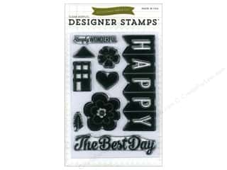 2013 Crafties - Best Adhesive: Echo Park Clear Stamp Set We Are Family Happy Fam