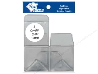 Boxes and Organizers Paper Accents Box: Paper Accents Crystal Clear Box 2 x 2 x 2 in. 5 pc.