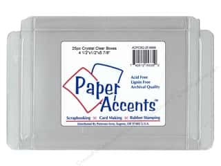Boxes and Organizers Paper Accents Box: Paper Accents Crystal Clear Box 4 1/2 x 1/2 x 5 7/8 in. 25pc