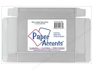 Storage Solutions 4 1/2 in: Paper Accents Crystal Clear Box 4 1/2 x 1 x 5 7/8 in. 25pc