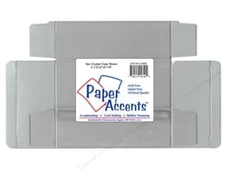 Paper Accents Clear: Paper Accents Crystal Clear Box 4 1/2 x 2 x 5 7/8 in. 25pc