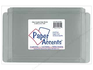 gift certificates: Paper Accents Crystal Clear Box 5 3/8 x 1/2 x 7 3/8 in. 25 pc.