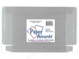 Boxes and Organizers Paper Accents Box: Paper Accents Crystal Clear Box 5 3/8 x 1 x 7 3/8 in. 25pc
