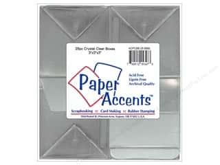 Boxes and Organizers Paper Accents Box: Paper Accents Crystal Clear Box 3 x 3 x 3 in. 25 pc.