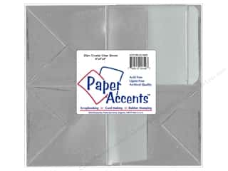 Boxes and Organizers Paper Accents Box: Paper Accents Crystal Clear Box 4 x 4 x 4 in. 25 pc.