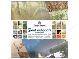 "Outdoors Papers: Paper House Paper Pad 12"" Great Outdoors"