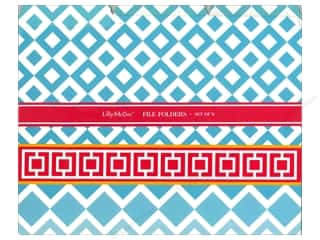 Anything But Boring: Lily McGee File Folders Geometrics 9pc