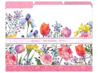 Tulip Gifts & Giftwrap: Lily McGee File Folders Flora 9pc