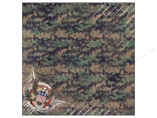 "Memorial / Veteran's Day Clearance Crafts: Karen Foster Paper 12""x 12"" Military American Bravery (25 pieces)"