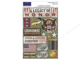 Memorial / Veteran's Day paper dimensions: Karen Foster Sticker Military A Legacy of Honor