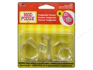 Plaid Mod Podge Podgeable Facet Shapes 6pc