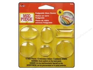 Glasses Glass Shapes: Plaid Mod Podge Podgeable Glass Domes 6pc