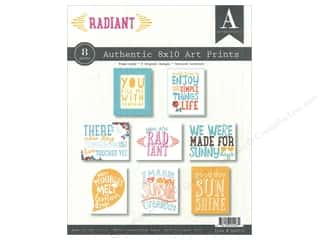 Authentique Printed Paper: Authentique Authentic Art Prints 8 x 10 in. Radiant 8 pc.