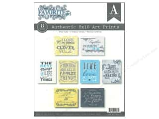 Authentique Printed Paper: Authentique Authentic Art Prints 8 x 10 in. Favorite 8 pc.