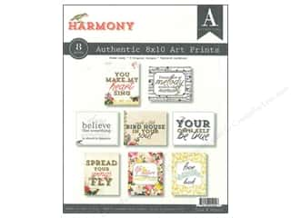 Authentique Printed Paper: Authentique Authentic Art Prints 8 x 10 in. Harmony 8 pc.