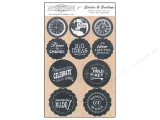 Authentique Die Cuts Accomplished Circles & Scallop (12 set)