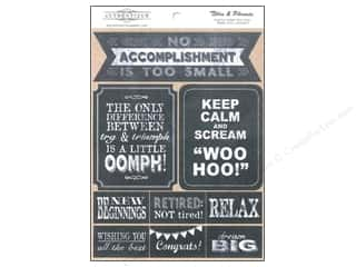 Chalk $6 - $8: Authentique 6 x 8 in. Die Cut Accomplished Titles & Phrases (12 sets)