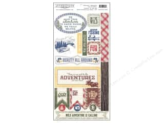 2013 Crafties - Best Adhesive: Authentique 6 x 12 in. Die Cut Adventure Components (12 set)