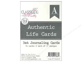 Authentique Authentic Life Cards 34 pc. Classique Pretty