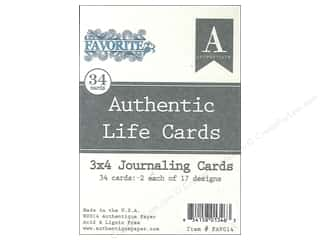 Authentique Authentic Life Cards 34 pc. Favorite