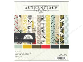 Insects Papers: Authentique 6 x 6 in. Paper Bundle Harmony Collection 24 pc.