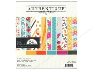 Authentique 6 x 6 in. Paper Bundle Radiant 24 pc.