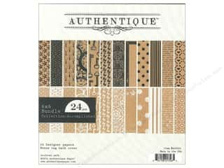 Star Thread $2 - $6: Authentique 6 x 6 in. Paper Bundle Accomplished Collection 24 pc.